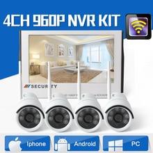 4CH 960 P Plug and Play-Display WiFi NVR Kit mit 10,1 zoll 1080 P LCD Monitor 4*1,3 MEGAPIXEL Wireless IP Kamera Für Home Shop sicherheit