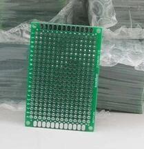 5 piezas x 4x6 cm prototipo PCB 2 capas 4*6 paneles placa Universal 2,54mm Doble tablero verde lateral 1,6mm de espesor