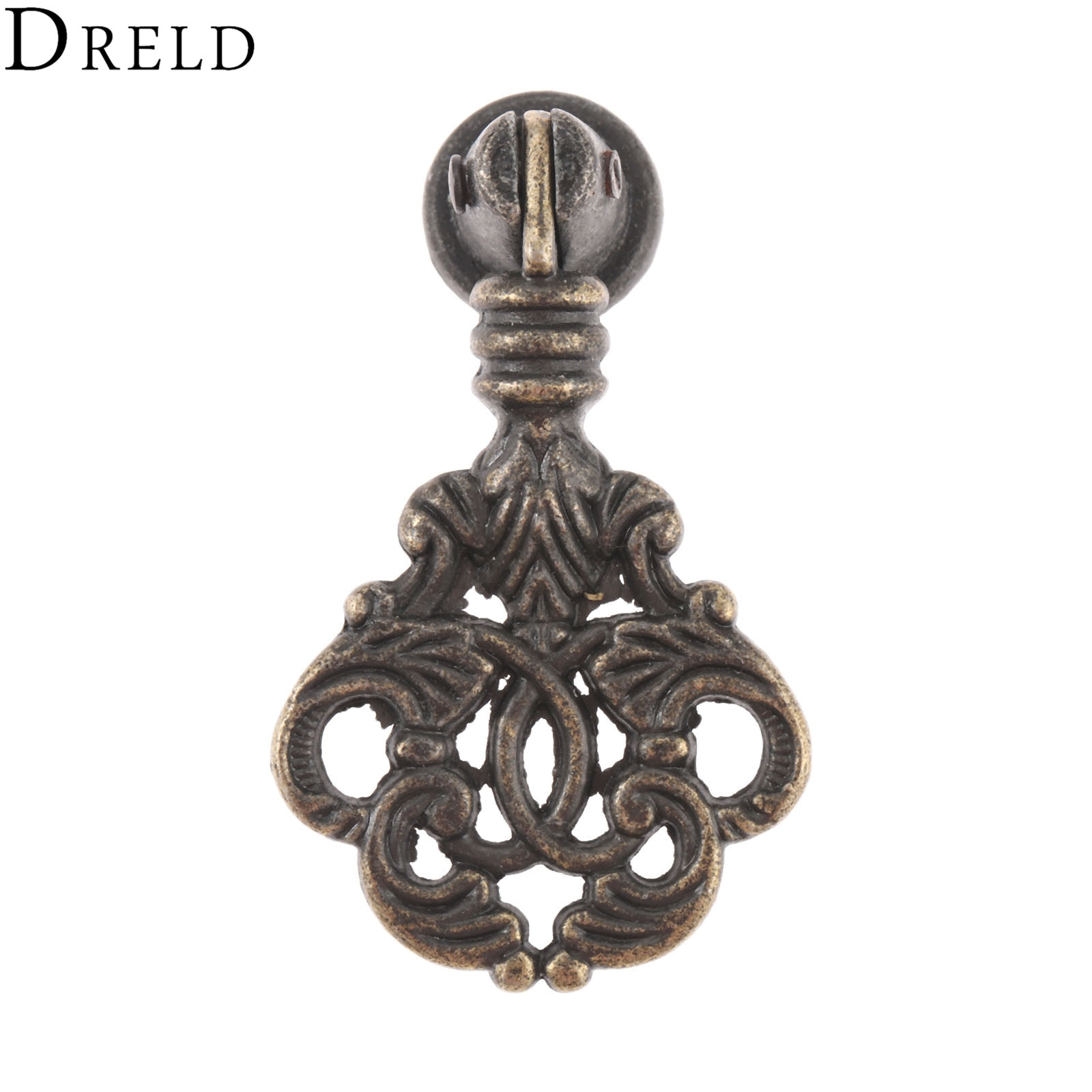 Dreld 56*32mm puxadores e puxadores para armários maçaneta da porta armário de bronze antigo gaveta do armário puxador para móveis
