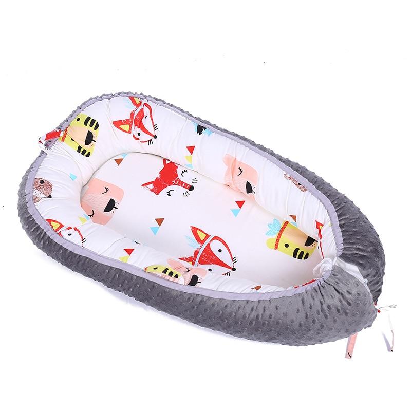 3D dot fox arrow cartoon animals  Detachable Protable Mattress Baby Crib co-sleeper baby bed newborn sleep nest Baby sleep nest