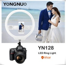 YONGNUO YN128 II Fotografie LED Ring Light met Make-Up Spiegel Bicolor Verfraaien LED Selfie Lamp voor iPhone Mobiele Youtube make-up
