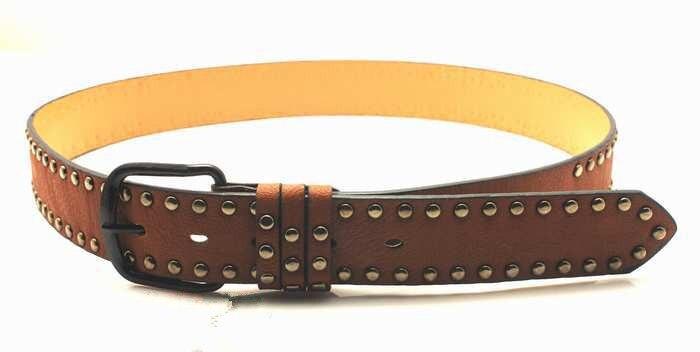 Cinturón masculino de cuero artificial Joker remaches hebilla de cinturón de moda casual para hombres 8 colores Cintos cinturon