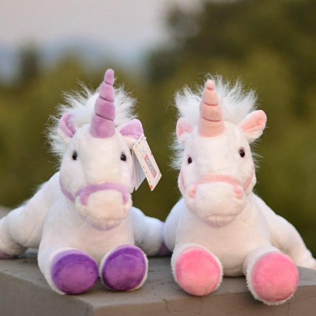 Real Life Plush Unicorn Doll Toys Children Birthday Gifts Toy Girls Present Super Soft Pony Dolls