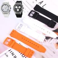 Ремешок для часов SUSN403, 404, 405, черный, белый, оранжевый, для дайвинга, 20 мм * 24 мм