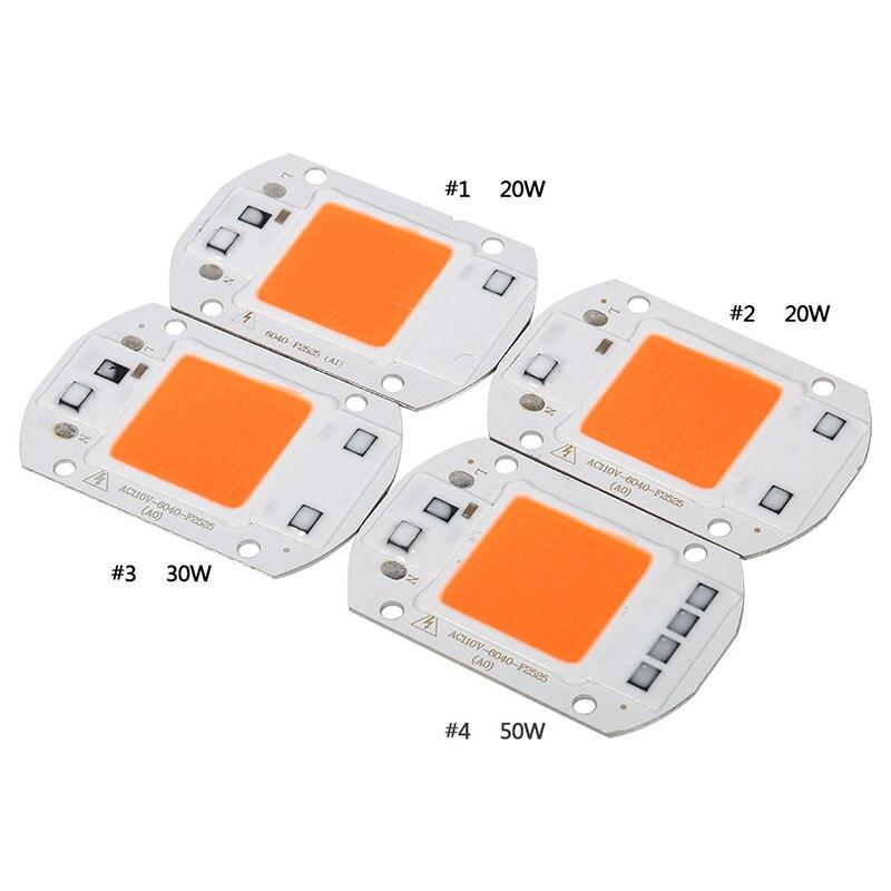 COB puce LED Phyto lampe spectre complet grandir lumière led 20W 30W 50W Diode pousser des lumières Fitolampy pour les semis dintérieur