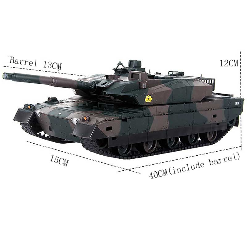 Rechargeable Remote Control Tank 40CM Camouflage RC Tank 1/20 9CH 27Mhz Infrared Electric Toys For Children Boys Birthday Gifts enlarge