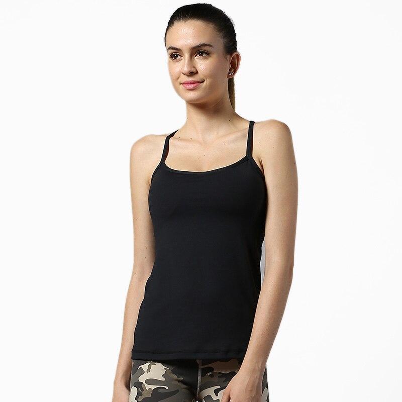 Camiseta sin mangas deportiva NWT 2020 con sujetador integrado de verano de secado rápido Material grueso transpirable de alta calidad camisetas sin mangas talla XS-XL