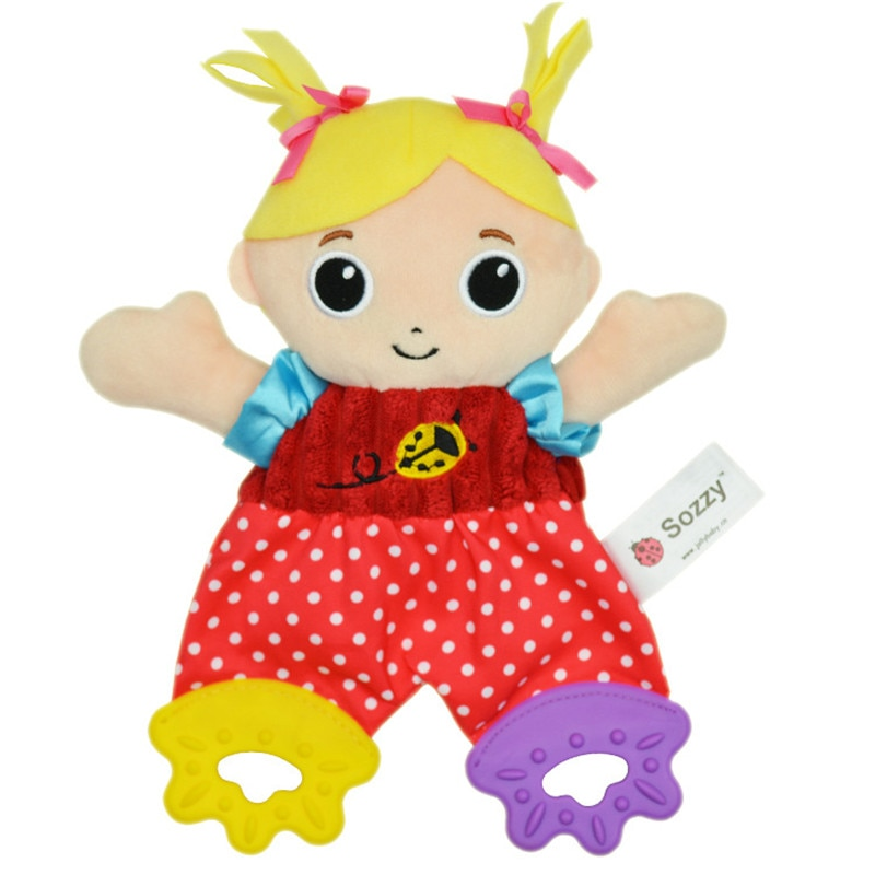 SOZZY 3pcs lMultifunction Baby Rattle Bell Cartoon monkey lion dog owl Animal Infant Baby Crib Stroller Hanging Toy Teether Doll