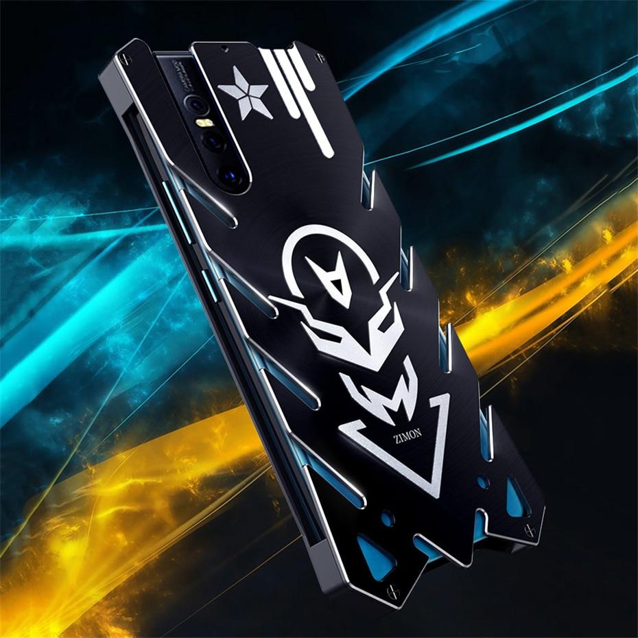 Funda de lujo Zimon para Vivo V15 Pro con armadura metálica anticaída para teléfono con correa de mano de doble uso para Vivo S1 V15 Pro