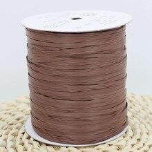 2018 recién llegado 250M/bola de hilo de paja de algodón para bolso hecho a mano sombrero hilo de ganchillo para Diy artesanía embalaje suministros de costura