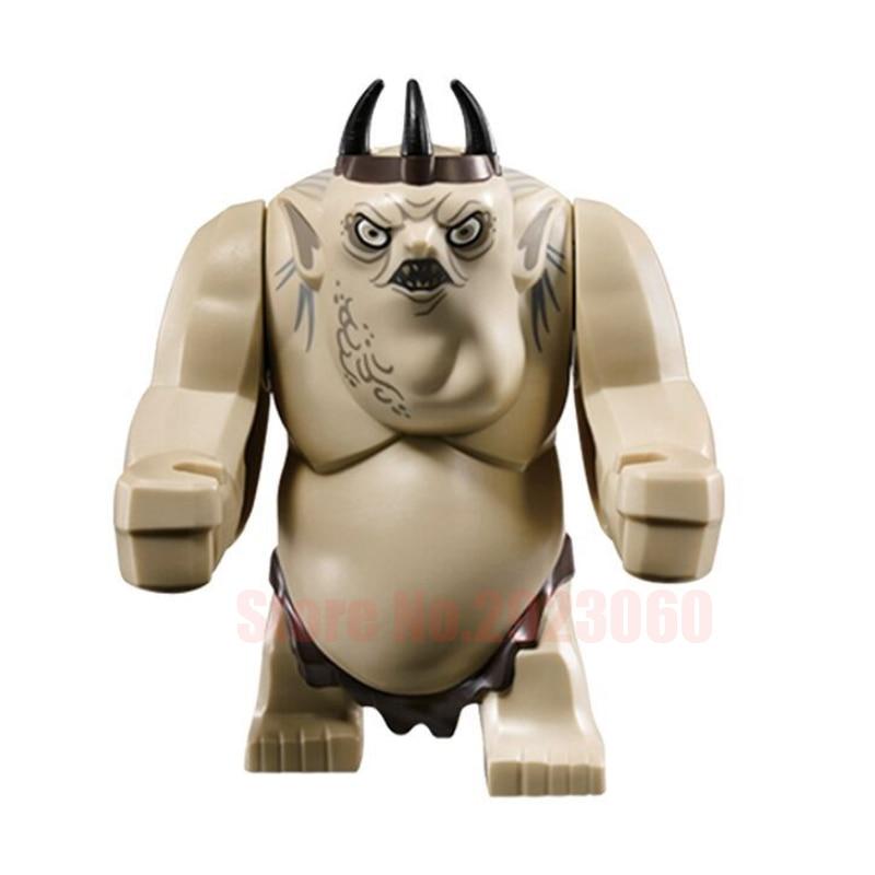Single Sale Lord of the Rings Goblin King Cave Troll Sermoido Figures Building Blocks Model Bricks Educational Toy Children