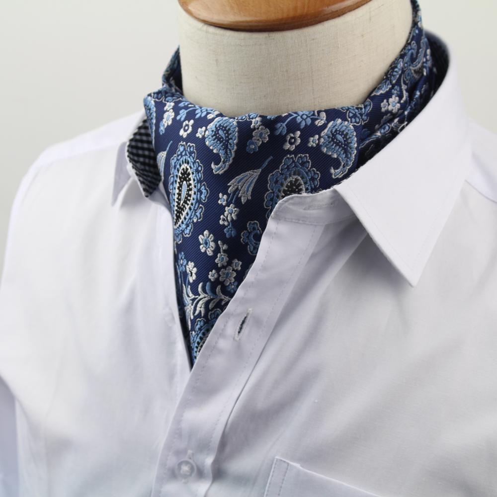Männer Vintage Krawatte Formale Krawatte Ascot Scrunch Selbst Britischen Polka Dot Gentleman Polyester Seide Krawatte Luxus