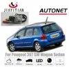 JIAYTTIAN-caméra arrière avec Vision nocturne CCD plaque d'immatriculation caméra inversée pour Peugeot 307 SW Wagon et berline