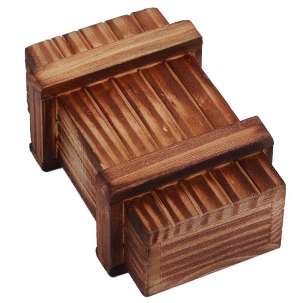 Juguete de la caja del cerebro Tricky, divertido compartimiento mágico, sala de madera, accesorios de juguete de broma, rompecabezas secreto de inteligencia, madera aburrida