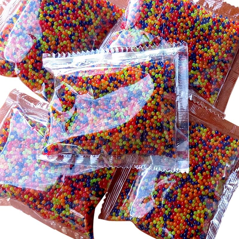 Водяной пистолет, 10000 шт./упаковка, цветной, мягкий, кристаллический, для пейнтбола, для выращивания воды, шарики для выращивания воды, водяной пистолет, игрушки 11-13 мм 9-11 мм
