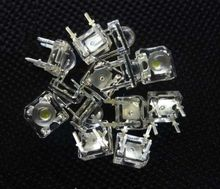 10 pièces 5mm F5 Piranha LED blanc Super lumineux Diode électroluminescente tête ronde