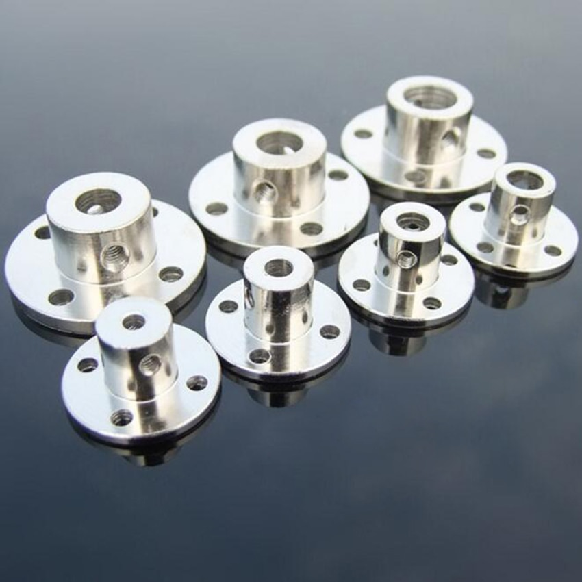 3/3.17/4/5/6/7/8/10/11/12/14mmmm Rigid Flange Coupling Motor Guide Shaft Coupler Motor Connector Shaft Axis Bearing Fittings rigid coupling od 20x25mm engraving machine motor step servo motor ball screw connecting axle 4 5 6 6 35 7 8