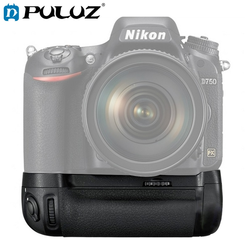 PULUZ Батарейная ручка для Nikon D750 Вертикальная цифровая зеркальная камера для Nikon MB-D16 Батарейная ручка для Nikon 142,2*77,9*51,3 мм