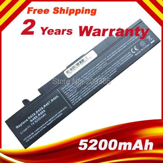 Batería de ordenador portátil R428 para SAMSUNG R540, R530, RV520, R528, RV511, NP300, R525, R425, RC530, R580, batería de AA-PB9NC6W AA-PB9NC6B