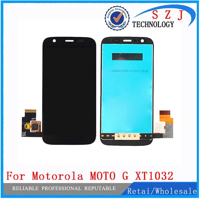 Novo case Para Motorola MOTO G XT1032 XT1033 Lente Digitador Touch Screen Display LCD Assembléia Digitador Sensor de Vidro Frete grátis