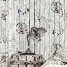 Papier peint motif tour lettres en bois   Planche de bois rétro nostalgique, Grain de bois, pour salon, mode vêtements boutique, papier peint décoratif
