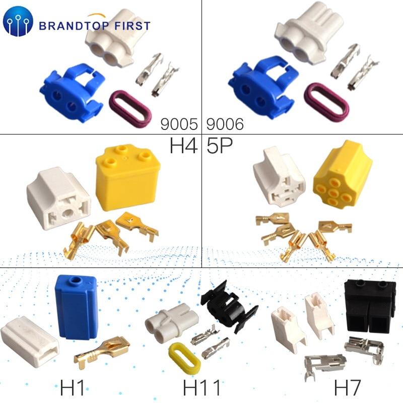 H4 h7 h1 h11 9005 9006 bulb holder Car Truck Female Ceramic Headlight Connector Plug Lamp Bulb Socket Adapter