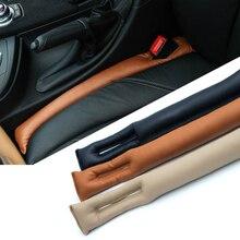 HUANLISUN para hueco de asiento de coche, cubierta antifugas de asiento, decoración de PU, costura de cuero, enchufe, almohadilla a prueba de apertura para Toyota Corolla RAV4 Prius