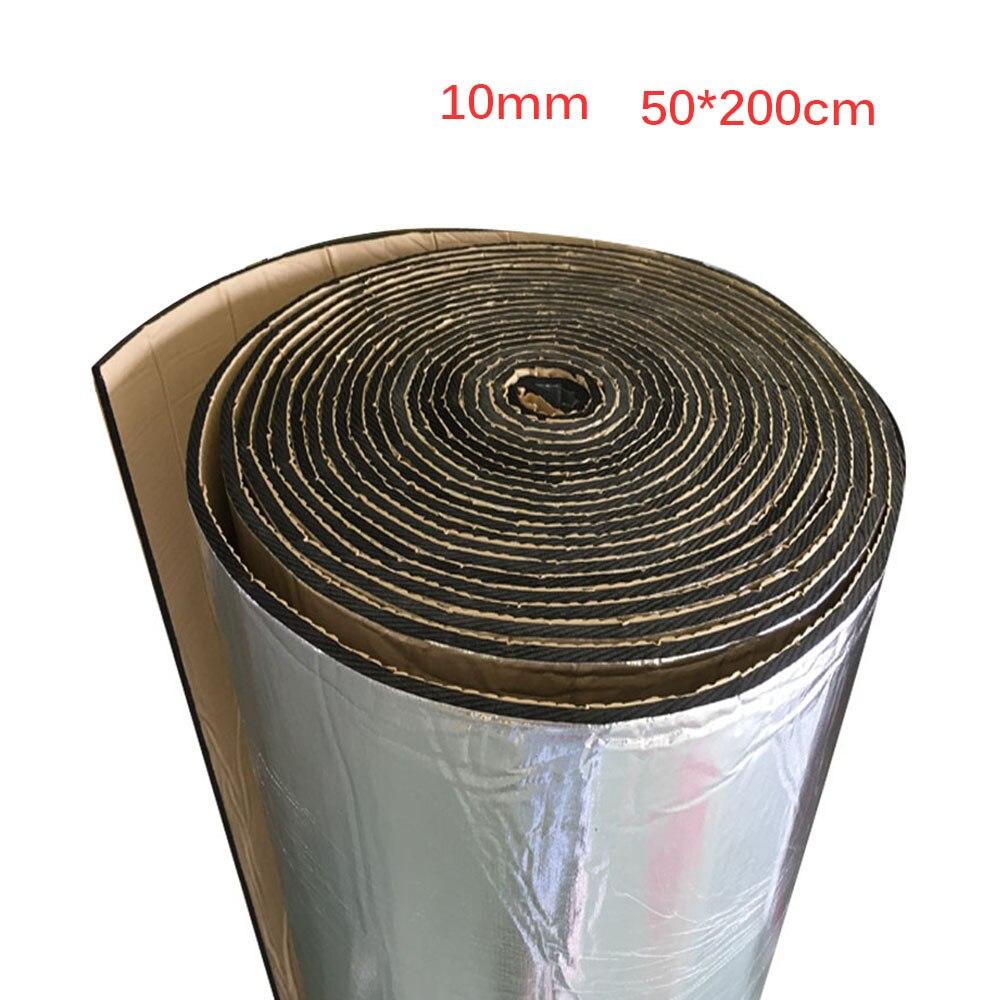 Tapete de aislamiento acústico de 50x200cm para cortafuegos de camiones y coches, almohadilla de aislamiento térmico de sonido y lana con aislamiento acústico para coches, 10mm