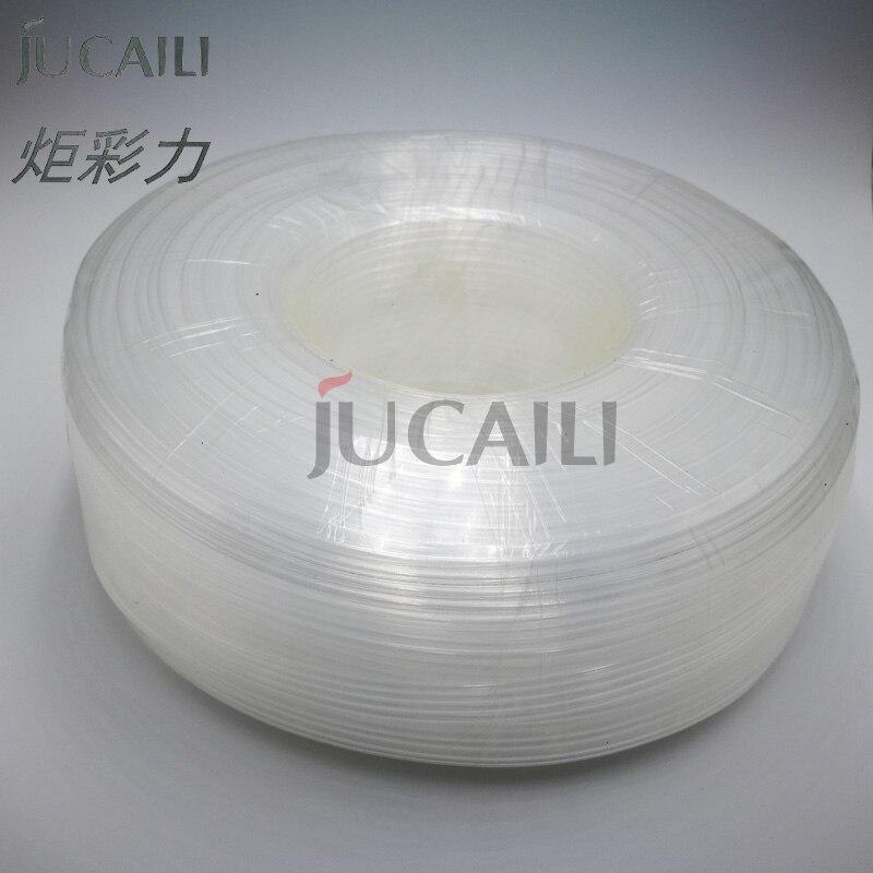 Jucaili 10 متر/وحدة المذيبات الحبر أنبوب 6 خطوط تغذية أنبوب شكل كبير طابعة الحبر نظام الحبر خط أنبوب خرطوم