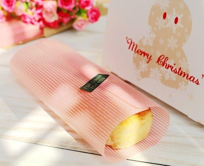 300 الوردي شريط ورق مشمع ، طلاء شحوم ، لساندويتش همبرغر الغذاء كاندي هدايا الصابون التفاف التعبئة والتغليف ، 21.8x24.8cm-2114