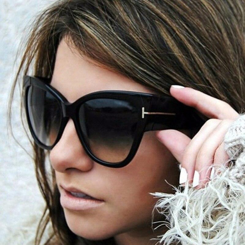 ¡OFERTA 2019! gafas de sol cuadradas de diseño de ojo de gato para mujer gafas de sol de gran tamaño Retro único transparente gafas de sol para mujer