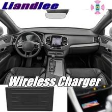 Liandlee-chargeur de téléphone sans fil   Compartiment de rangement daccoudoir de voiture, charge rapide qi pour Volvo XC90 2014 ~ 2019