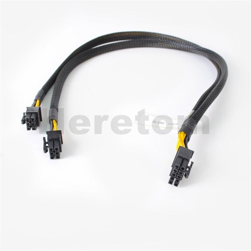 Nuevo 10pin a 6 + 6pin Tarjeta de Video GPU Cable adaptador de corriente 50CM para HP DL380 G9 y Tarjeta de Video GPU