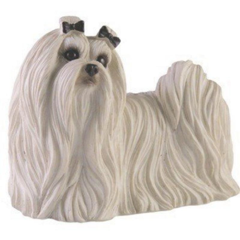Moldes de resina para manualidades, gran oferta, artesanía oficial de resina genuina, perro maltés encantador para decoración de automóviles