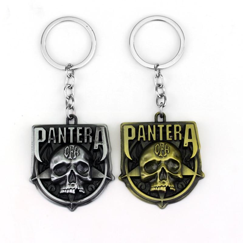 Rock Band Keychain Punk Antique Metal Fans Key Ring Holder Car Bag Chaveiro Key Chain Pendant Men Jewelry