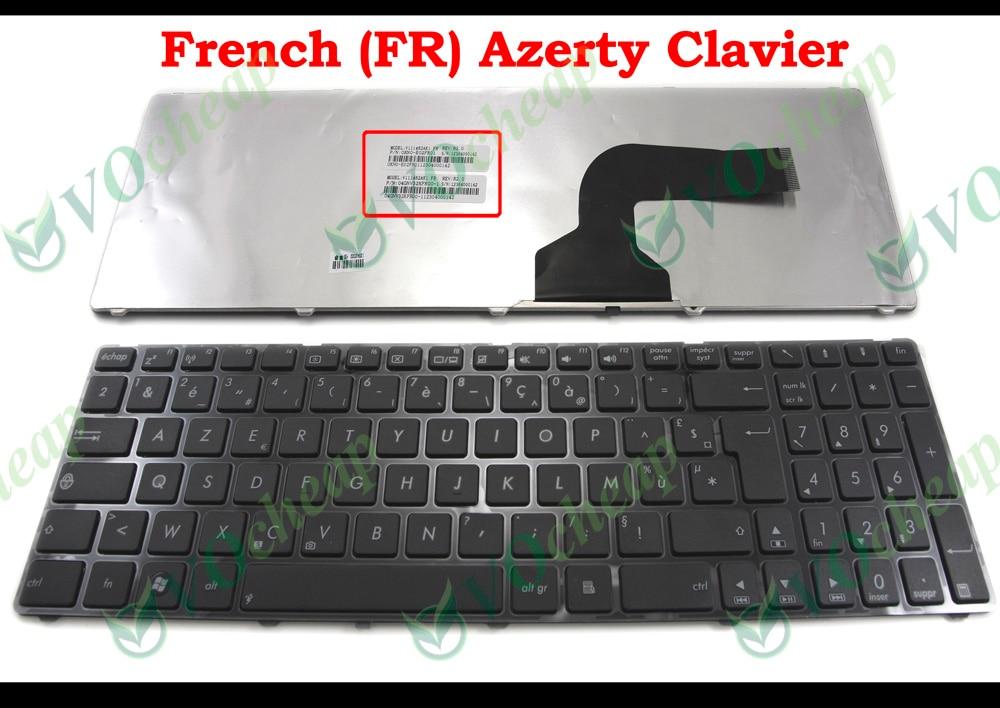 FR teclado del ordenador portátil para Asus K72JK K72JR K73 K73S K73SM K73SV K73E U50F U50A U50V U50VF UX50 UX50V UL50 UL50A UL50V UL50VF francés