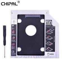 CHIPA universel double LED 2nd HDD Caddy 9.5mm SATA 3.0 pour 2.5 pouces disque dur boîtier SSD adaptateur pour ordinateur portable CD ROM DVD-ROM Optibay