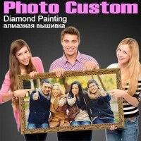 HOMFUN     Peinture diamant personnalisee avec photo  image en strass 5D  broderie 3D  points de croix  a faire soi-meme  decoration dinterieur pour mariage  ZX