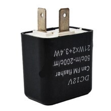 2 Pin LED intermitente frecuencia ajustable señal intermitente para girar intermitente indicador relé Auto partes motocicleta accesorios Kits