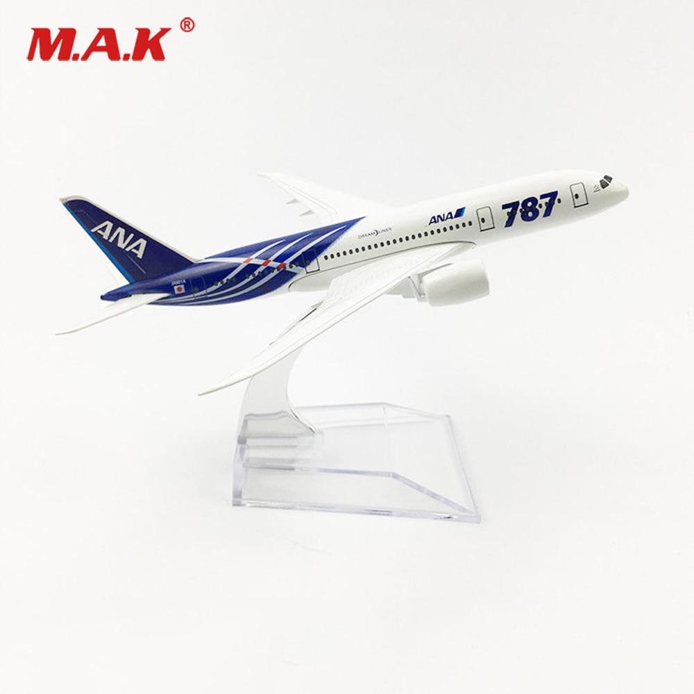 Modelo barato de juguetes 1/400 Diecast japonés ANA Boeing 787 aerolíneas avión modelo para Fans colección regalos