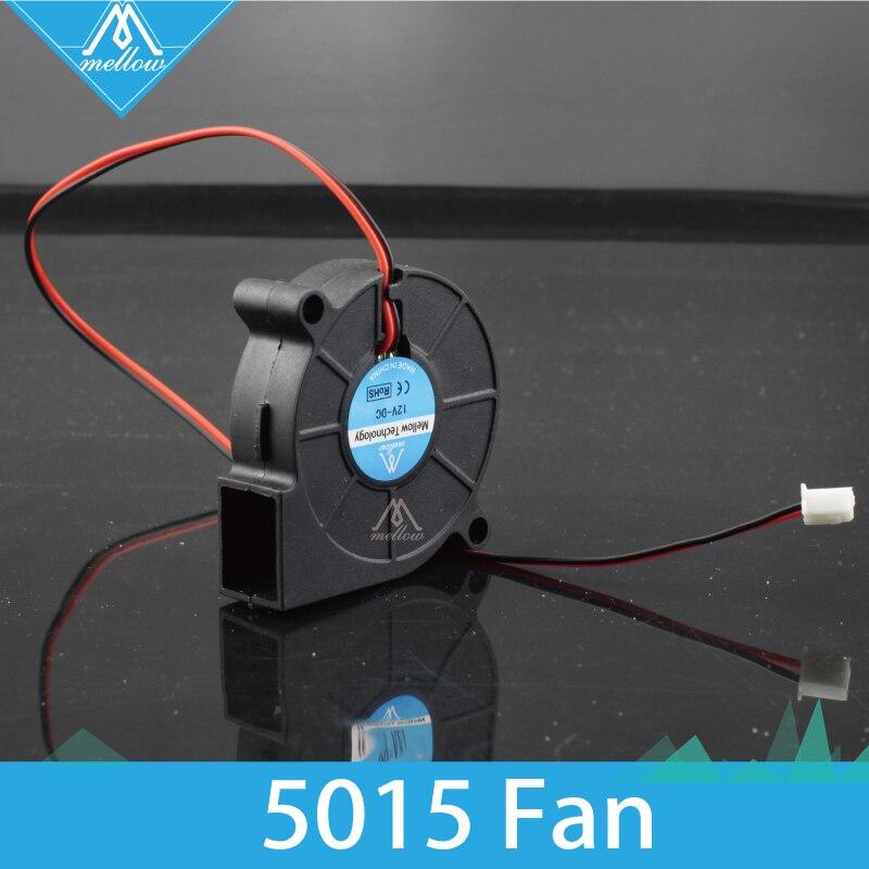 5 pçs/lote 3D Ventilador Da Impressora 5015 12 V/24 V 0.15A Manga Rolamento Brushless para Reprap i3 DC Ventilador de Refrigeração ventilador Turbo 5015S