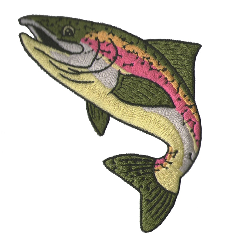 10 шт. очень модные цветные большие рыбки на заплатках для одежды наклейки этнические для одежды аппликация вышивка футболка Acce