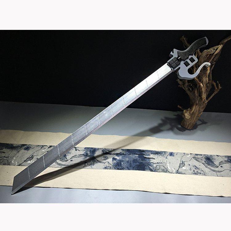 Ataque em titã levi ackerman espada de madeira cosplay levi ackerman espada simulação arma prop