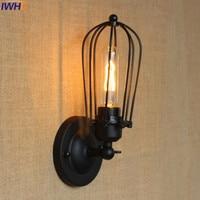 IWHD Modren Led Wall Lamp Iron Retro Vintage Loft Industrial Vintage Wall Sconce Lighting Antique American Style E27 Edison Bulb