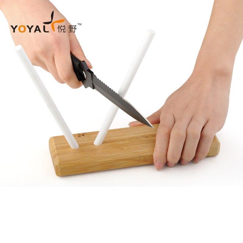 Sistema de afilado de cuchillo profesional de cerámica varilla de afilado para cuchillos Damasco cuchillo de bolsillo cuchillos de Chef japonés