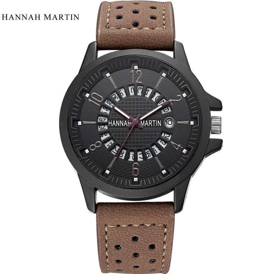 Reloj de cuarzo para hombre, Reloj masculino con fecha, de cuero, militar,...