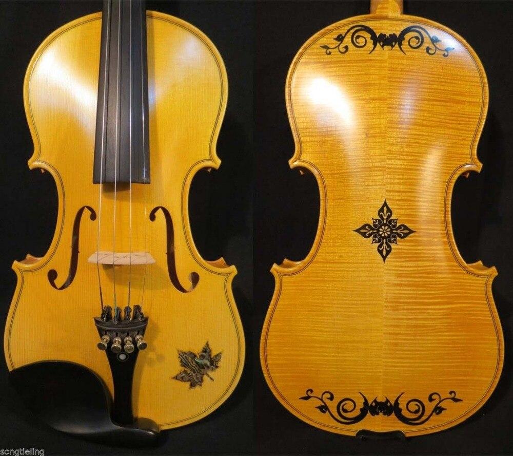 Бренд Strad style SONG maestro 4/4 скрипка, инкрустированный корпус, скрипка great deep #9742