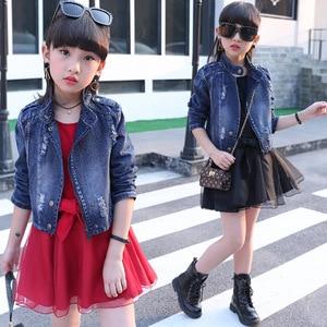 2020 New Children girl Spring Autumn Clothing Set,Denim Jacket+Belt TUTU Princess Dress,fashion kids girl Clothes sets
