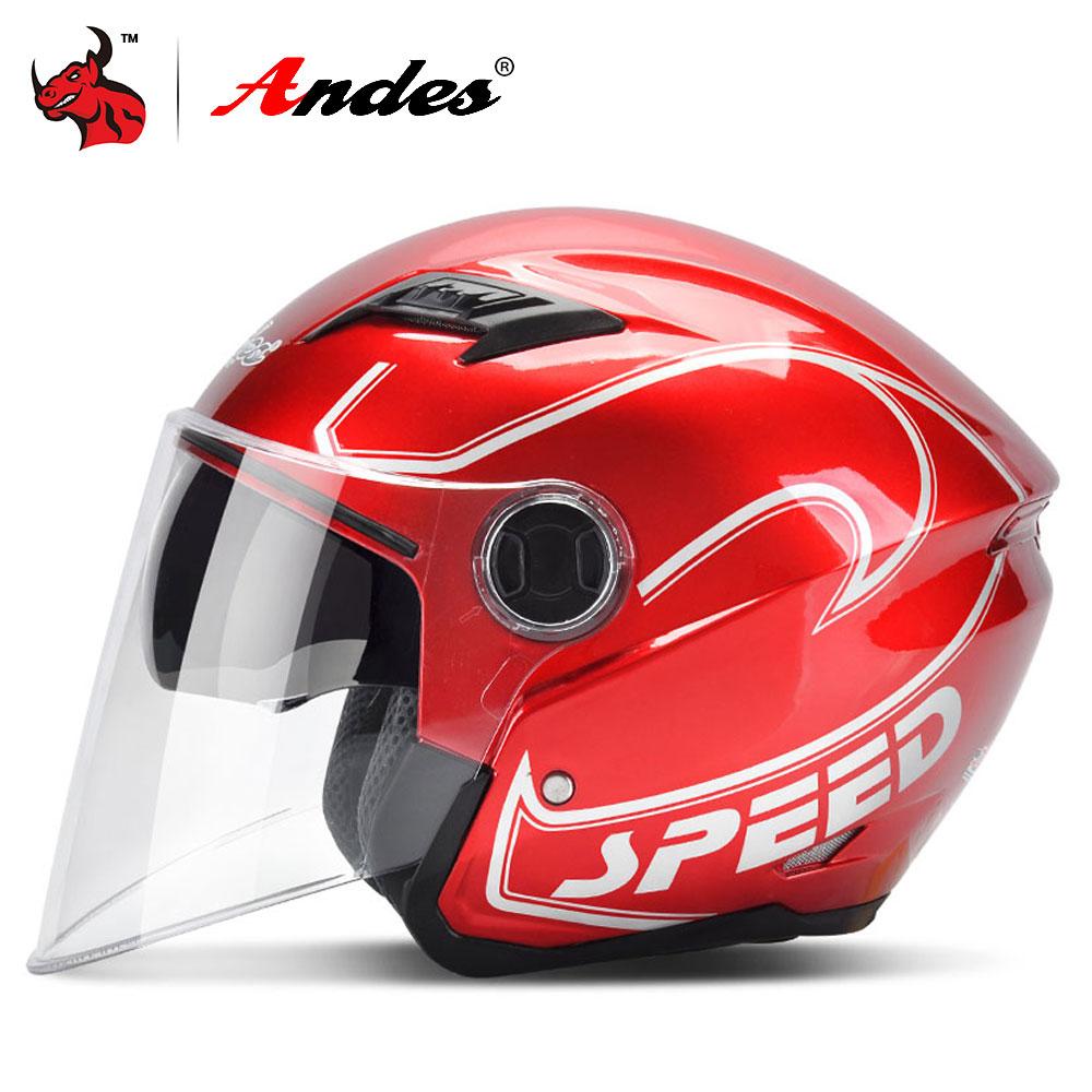 Мотоциклетный шлем Andes, Летний шлем унисекс с защитой от ветра и ультрафиолетового излучения, 2 козырька, шлем для мотокросса Casco Moto