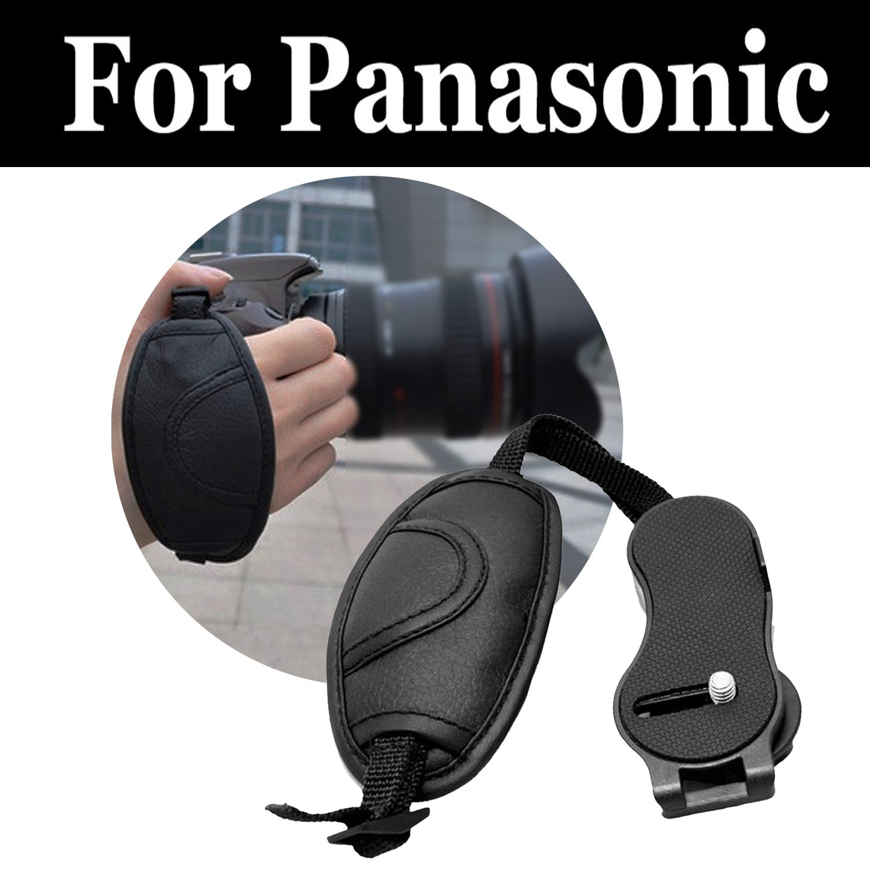 Cuero Artificial muñeca correa para empuñadura cinturón para panasonic Lumix DMC 3D1 F5 FH1 FH10 FH2 FH22 FH25 FH27 FH3 FH5 FH6 FH7 FH8